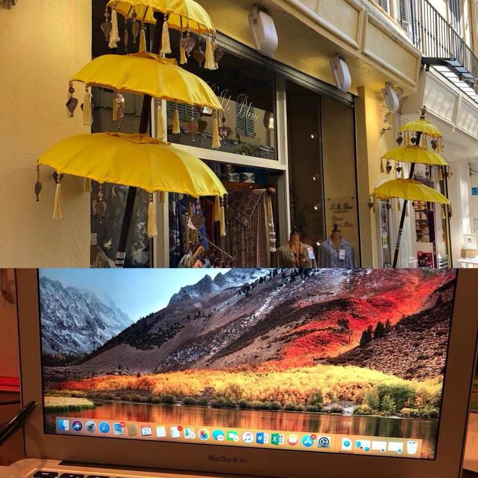 Installation MacBookAir à L'Ile Bleue Antibes